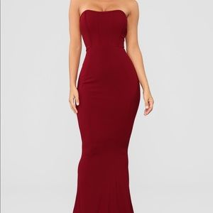 Fashion nova save me a dance red fitted prom dress